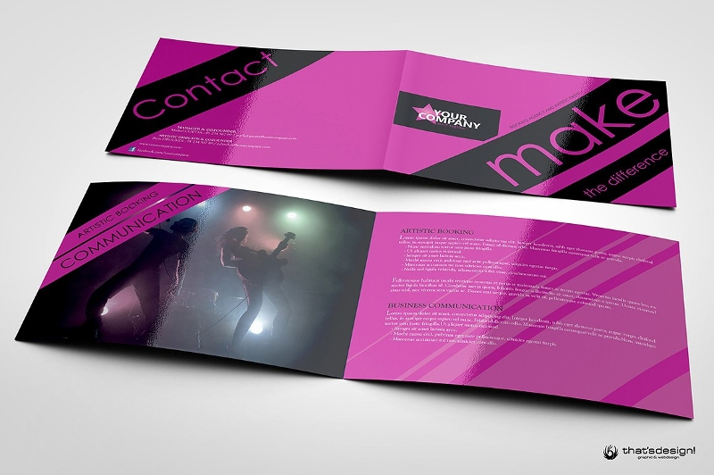 event and artistic brochure
