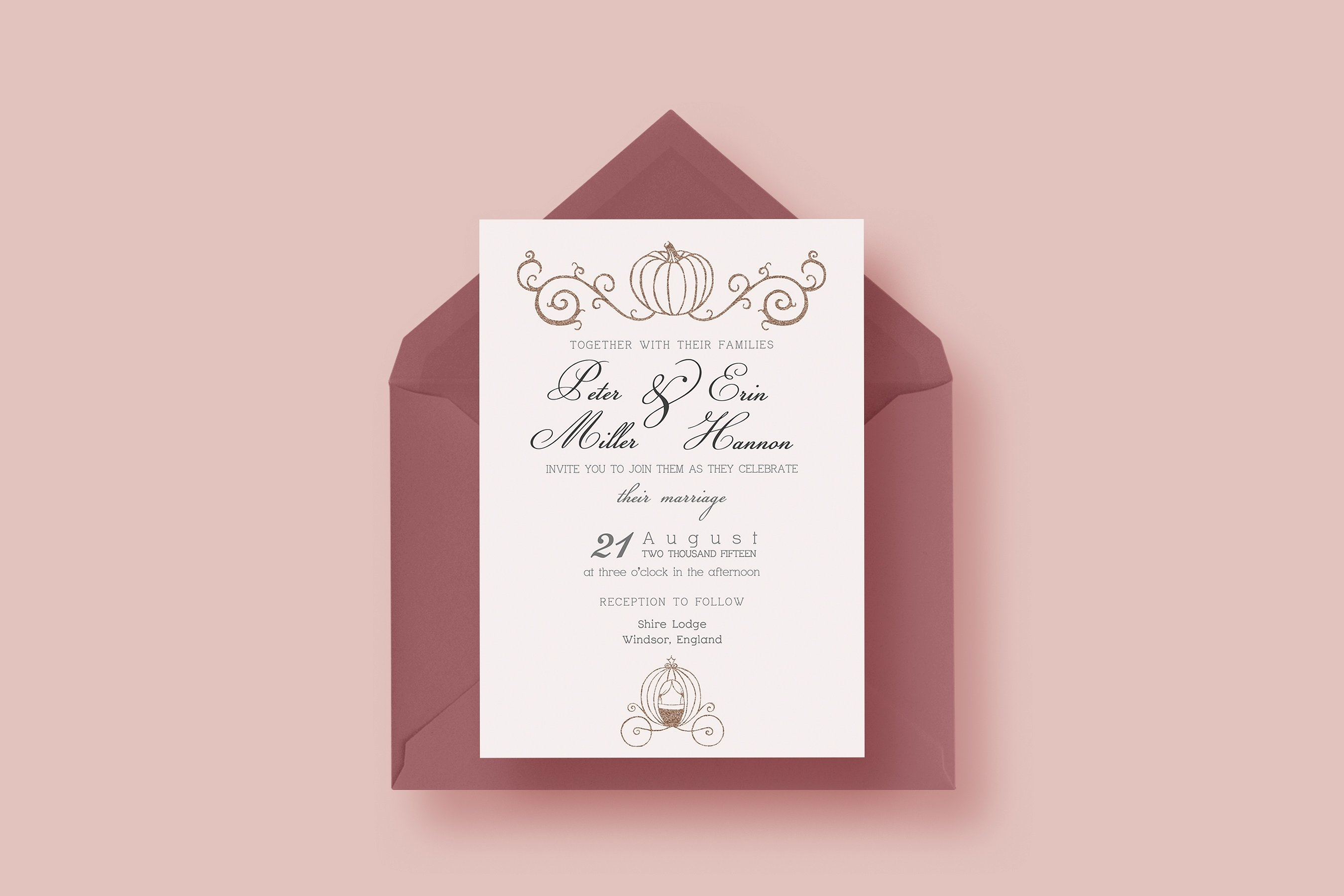 fairy tale wedding invitation