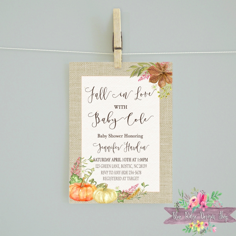 fall baby shower invitation1