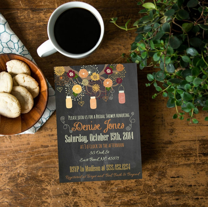 fall chalkboard invitation