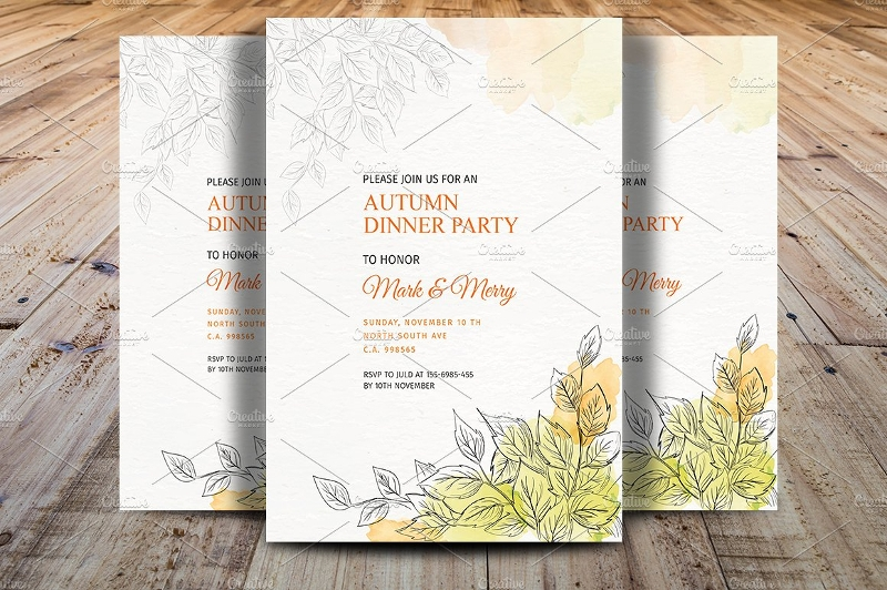 fall dinner invitation