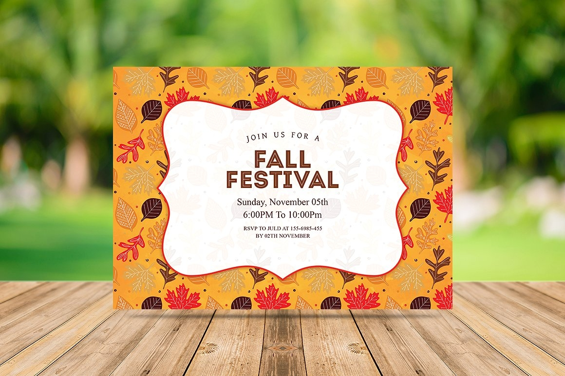 fall festival party invitation