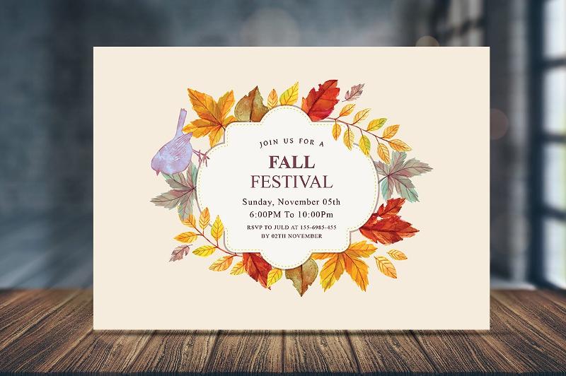 fall harvest party invitation