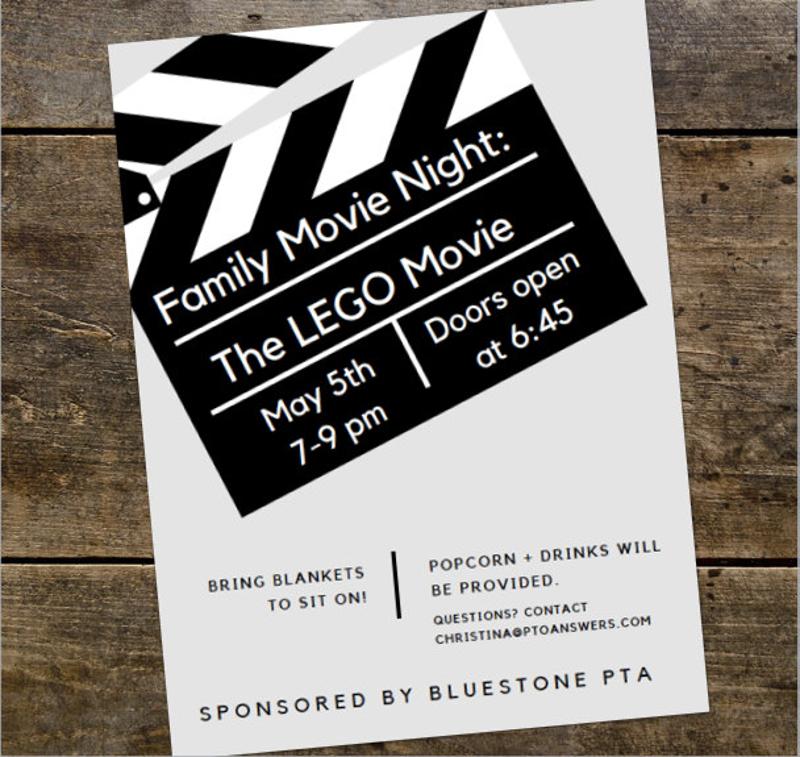 family movie night invitation