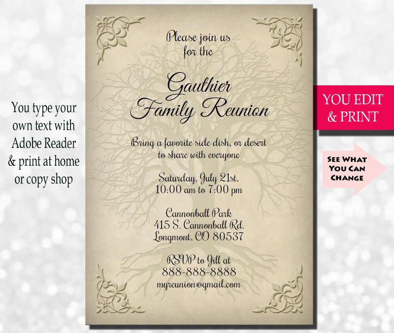family reunion invitation design