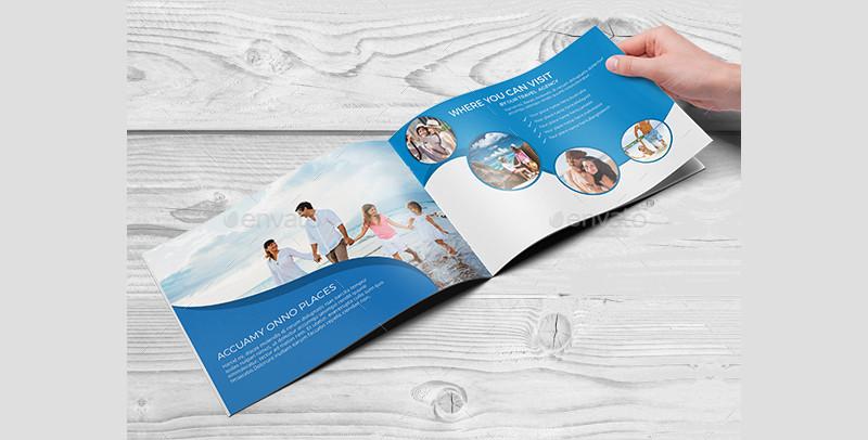 fancy travel agency brochure