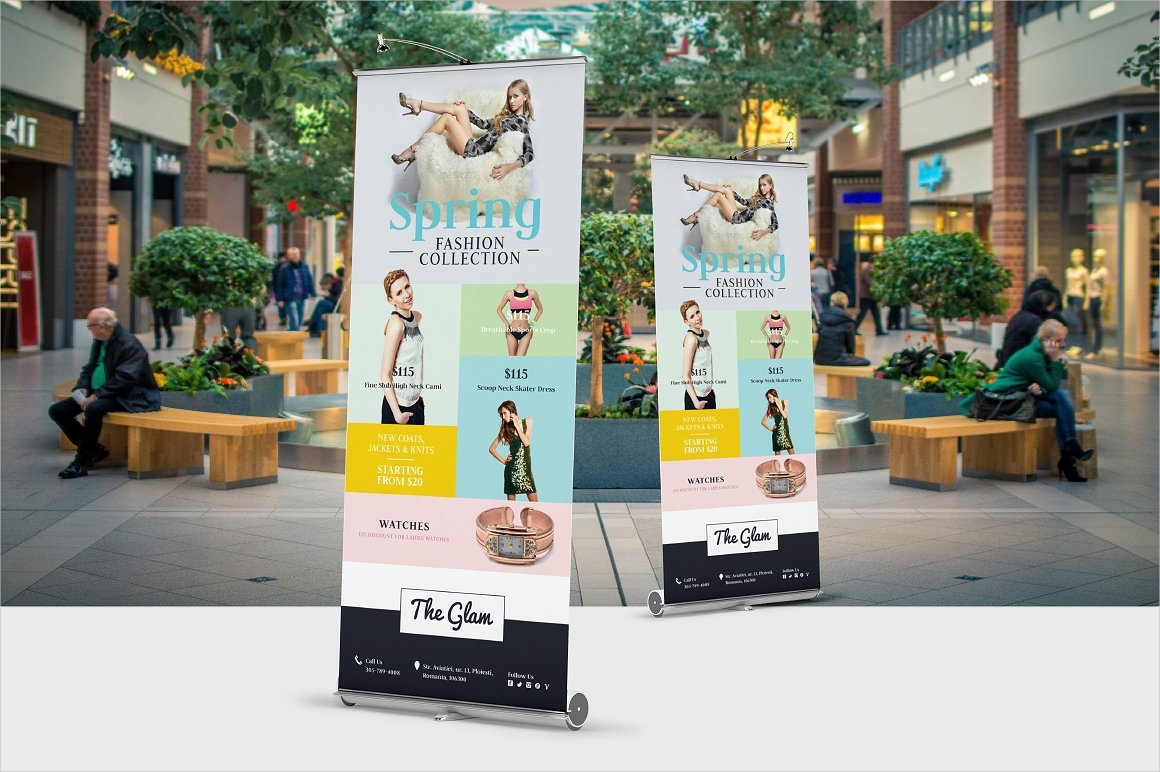 fashion spring rollup banner