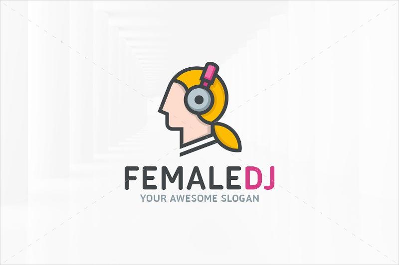 female dj logo