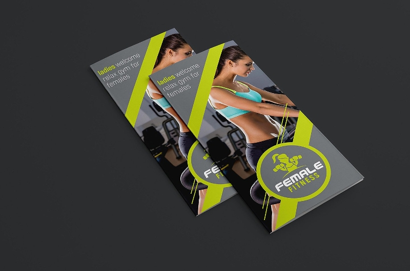 female fitness brochure design template