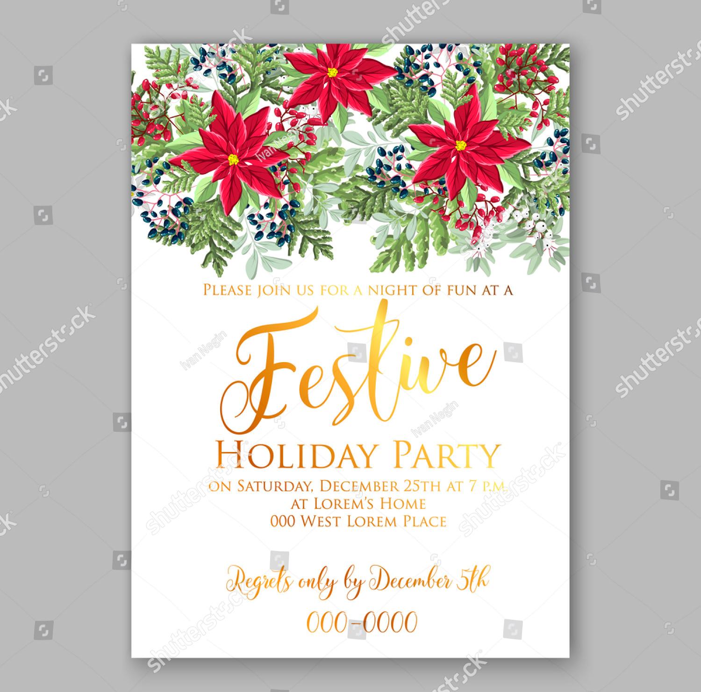 festive holiday party invitation