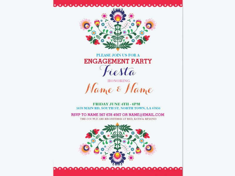 fiesta couples shower engagement mexican invitation