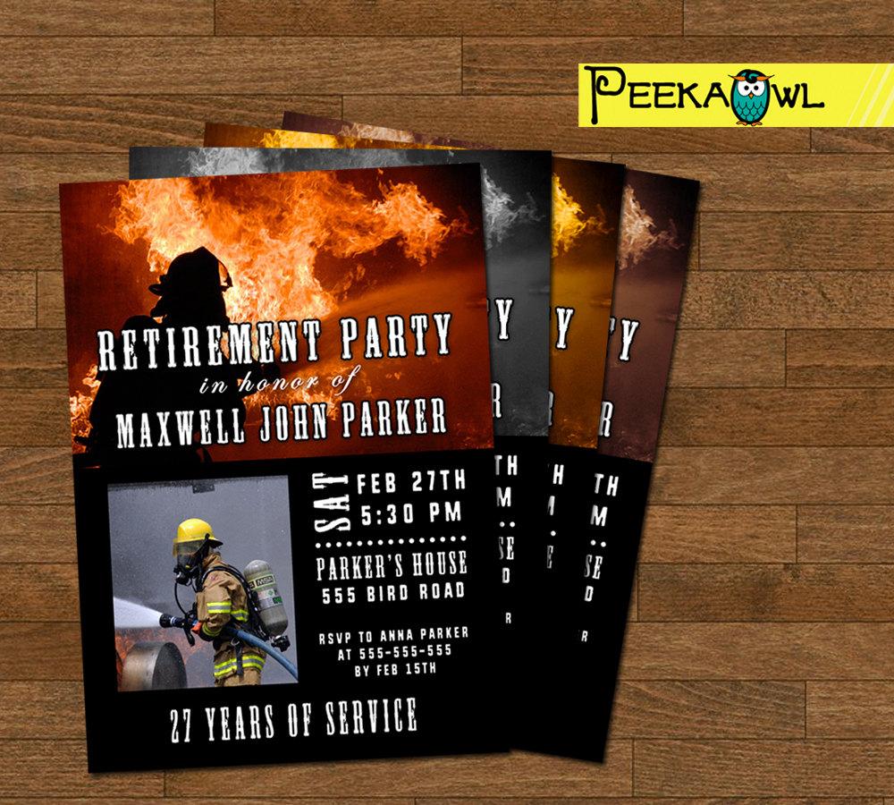 fireman retirement party invitation