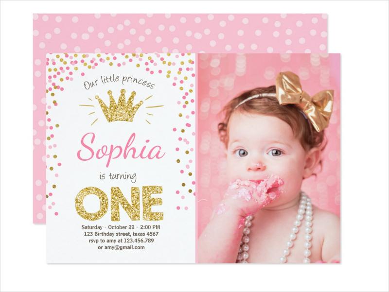 first birthday invitation princess