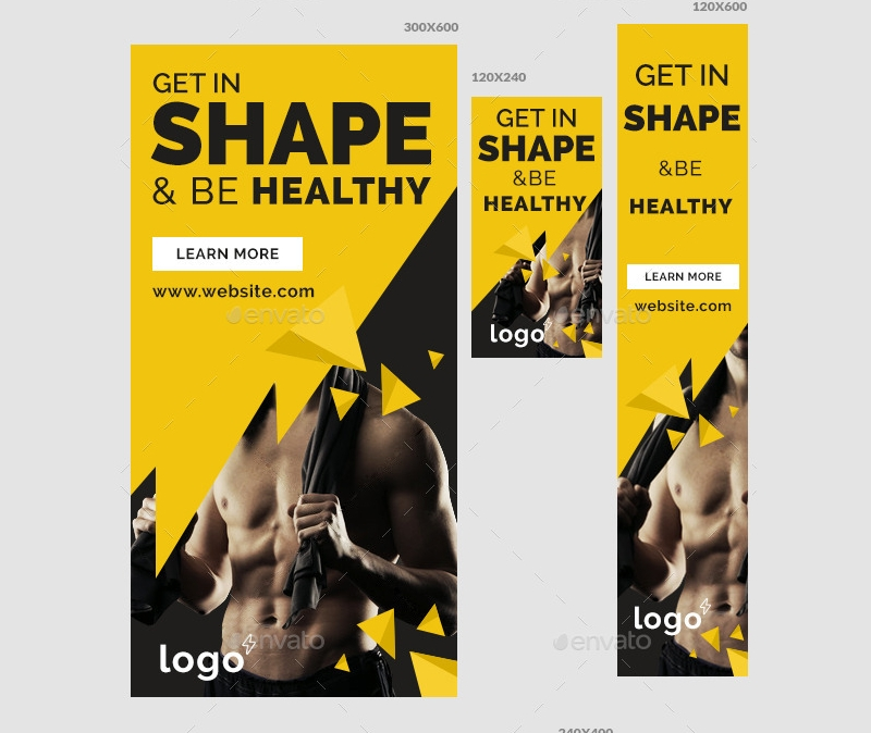 fitness gym ad banner