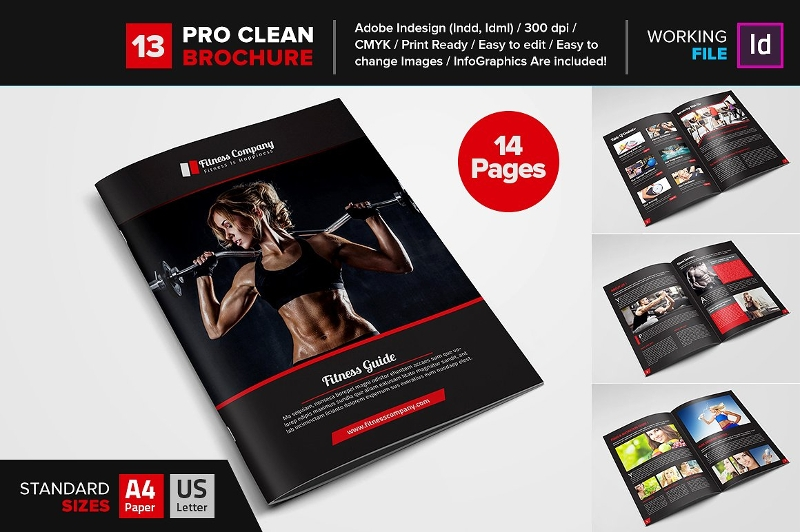 fitness gym brochure template