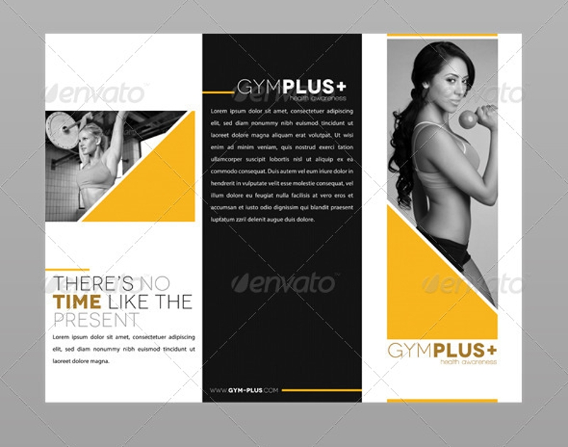 12 gym brochure designs examples psd ai eps vector for Fitness brochure design