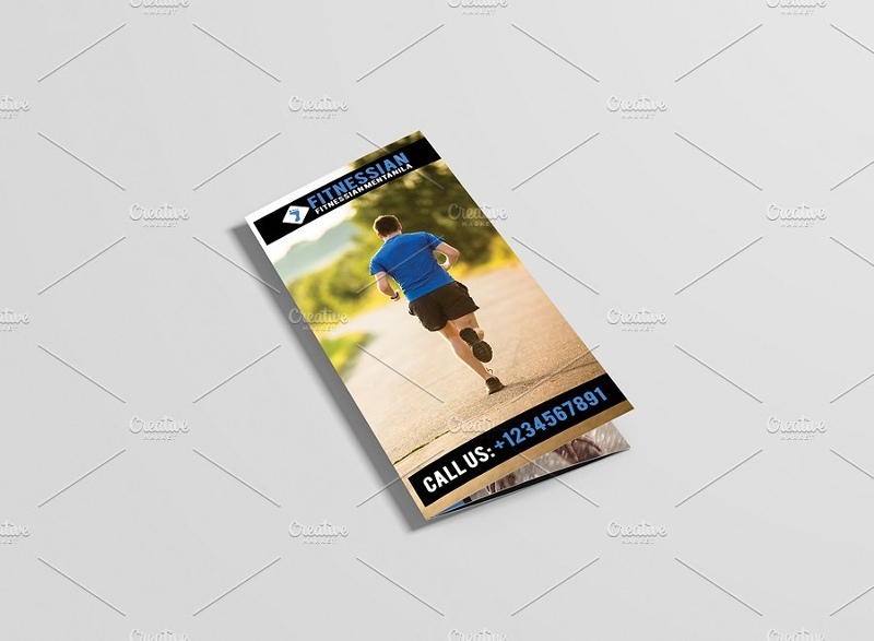 fitness tri fold gym brochure