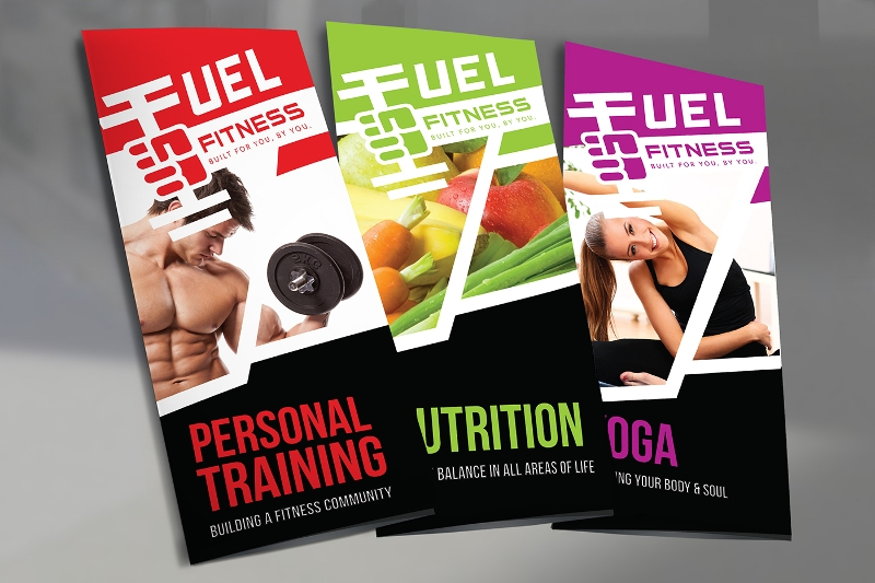 fitness trifold brochure design