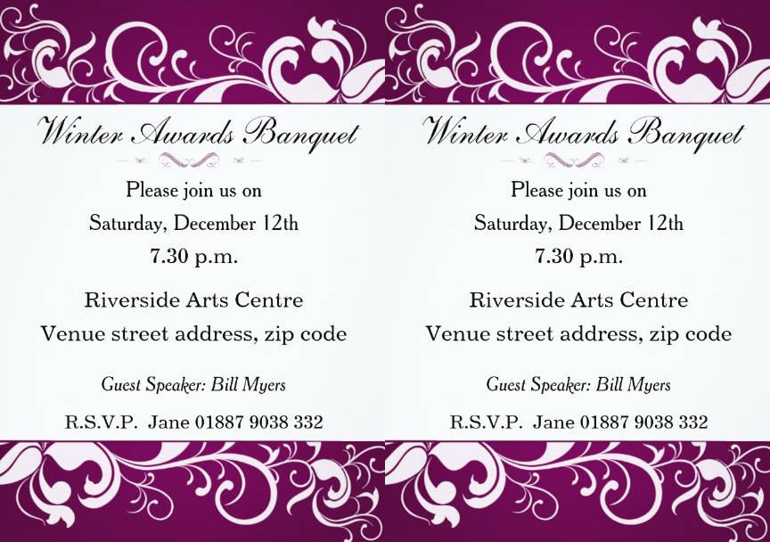 floral banquet invitation design