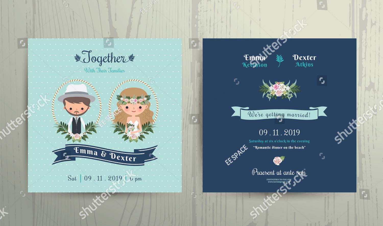 floral outdoor wedding invitation