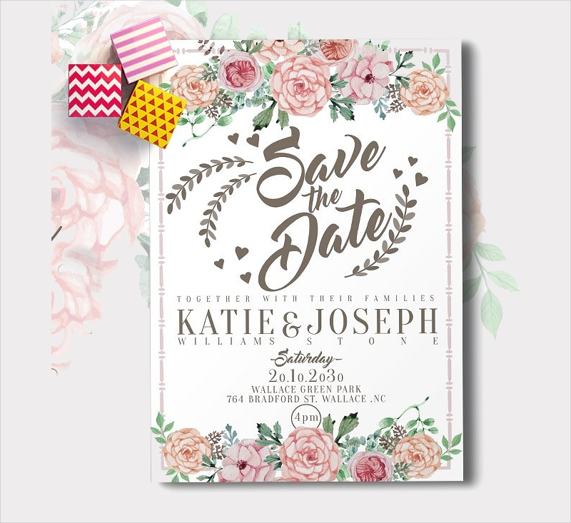 flower wedding reception invitation1