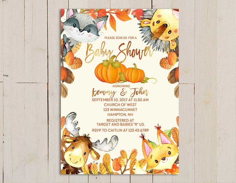 forest fall invitation