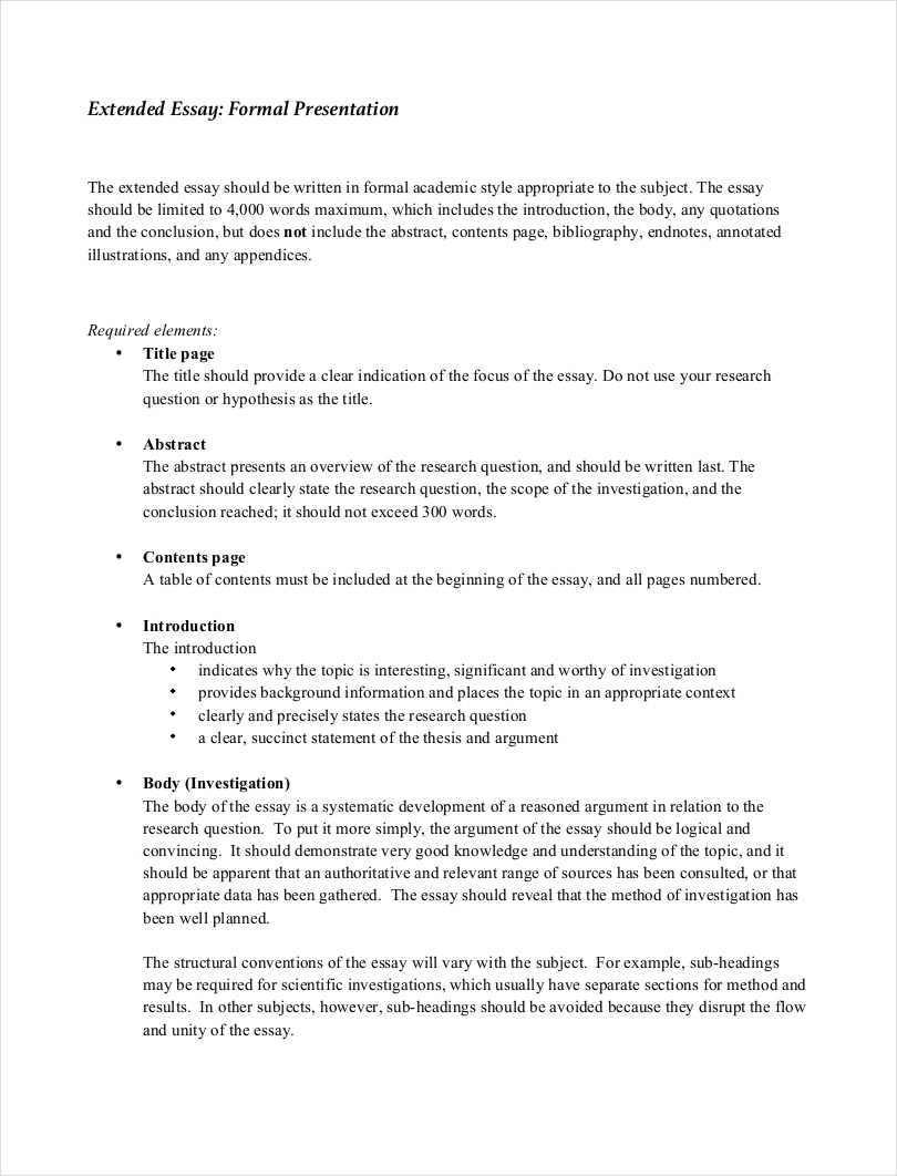 Thesis Essay Topics Formal Presentation Essay Sample Top English Essays also Example Of Thesis Statement For Essay  Samples Of Formal Essays  Free Pdf Format Download  Examples E Business Essay