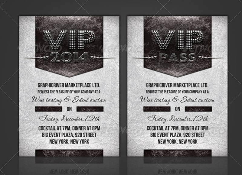 formal vip pass corporate invitation
