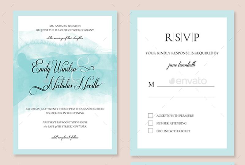 formal wedding invitation set