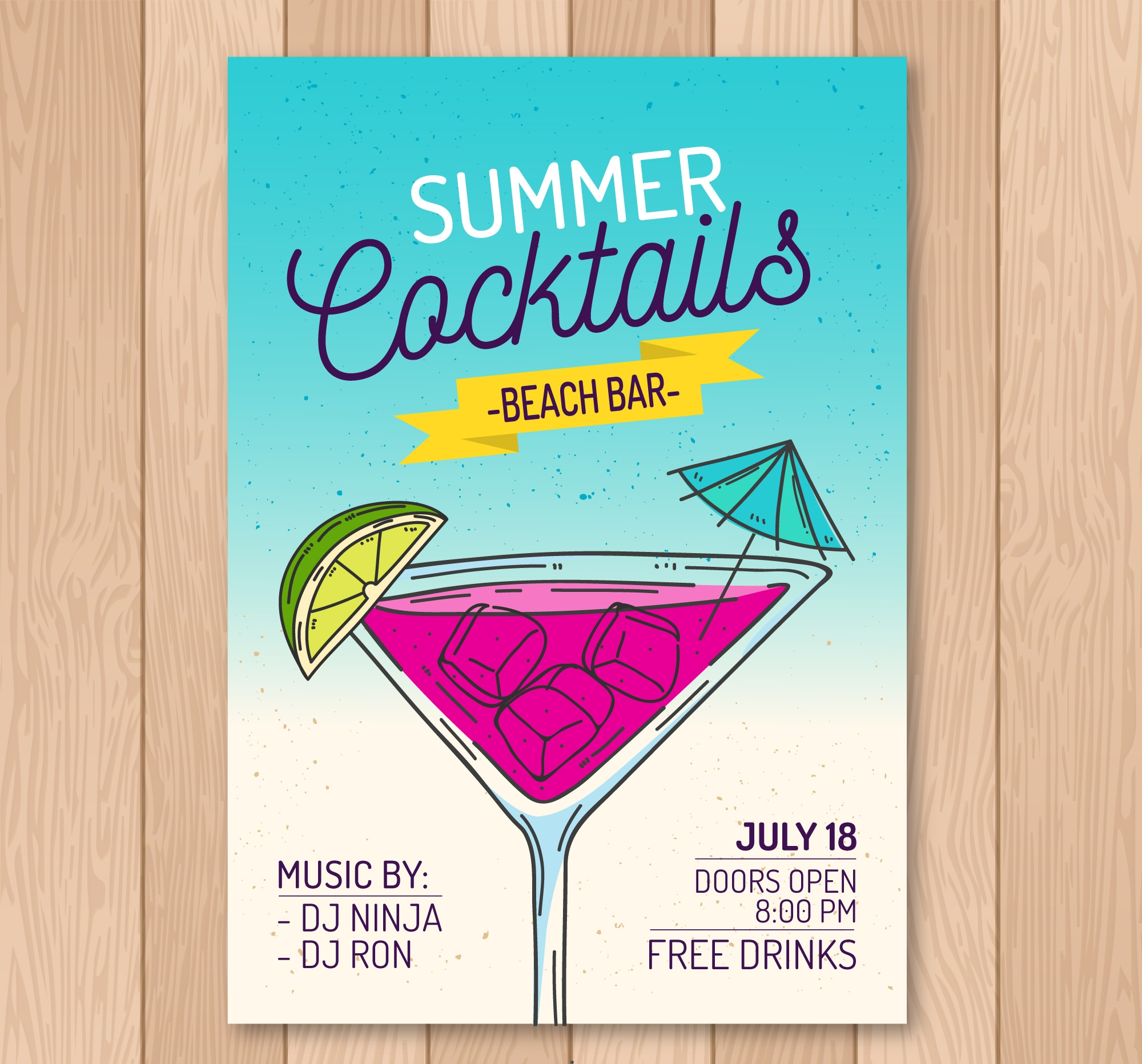 free cocktail party invitation