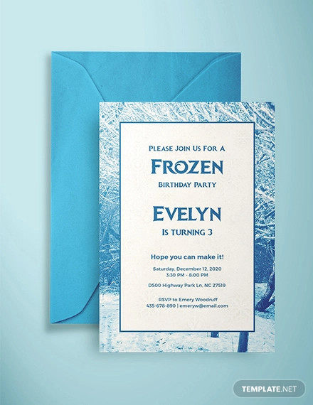 free frozen invitation example