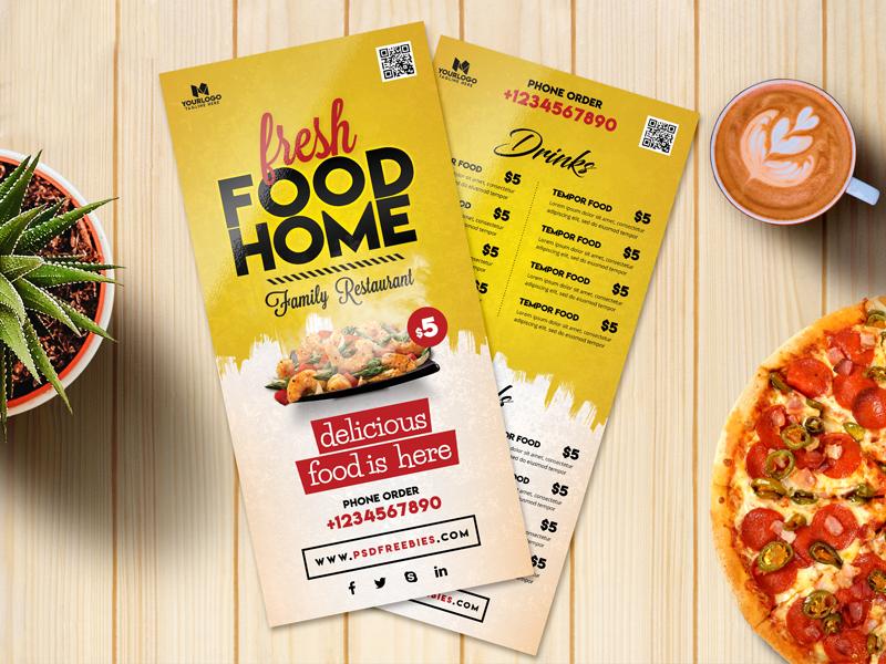 fresh food menu card design