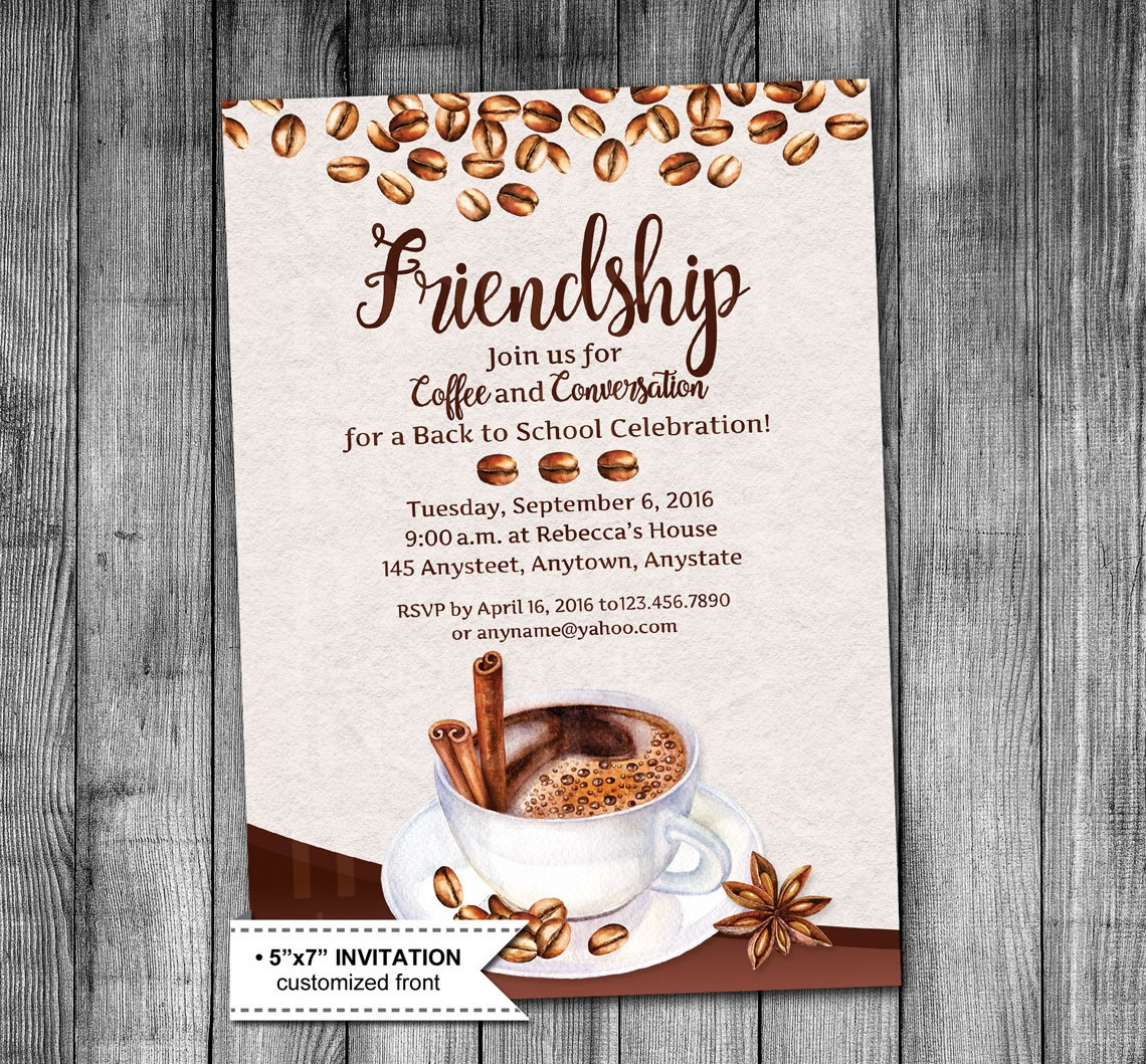 friends get together party invitation