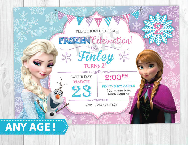 16 frozen birthday invitation designs and examples psd ai