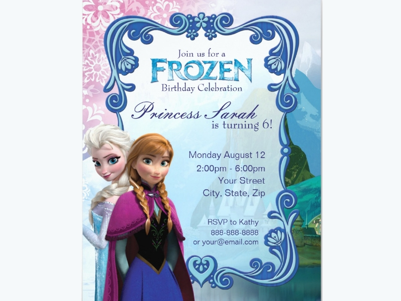 frozen birthday party invitation1