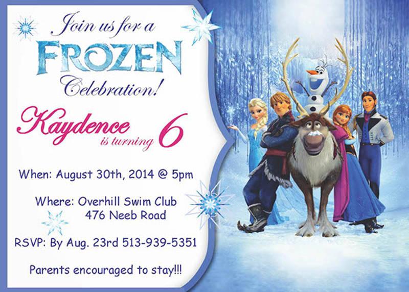 frozen celebration birthday invitation