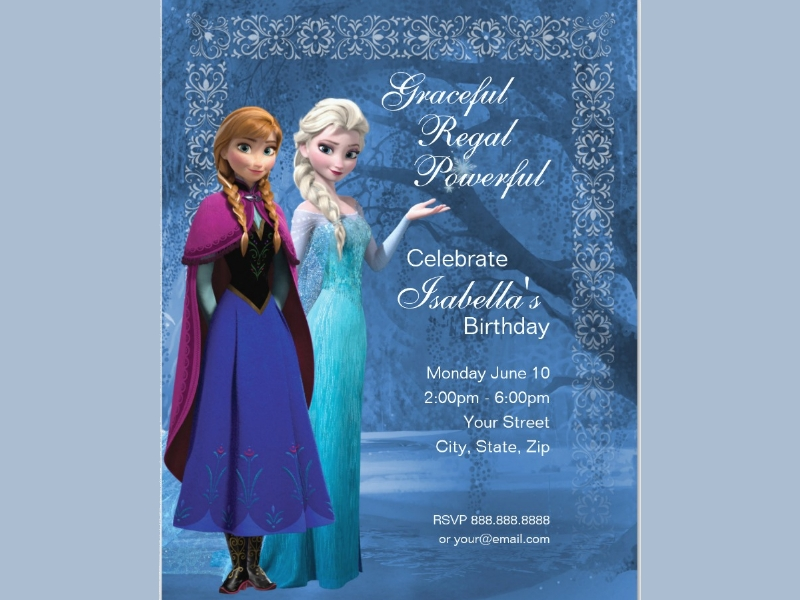 frozen snowflake birthday invitation1