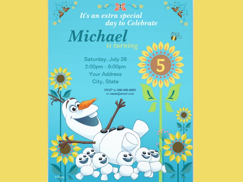 frozen summer birthday party invitation1