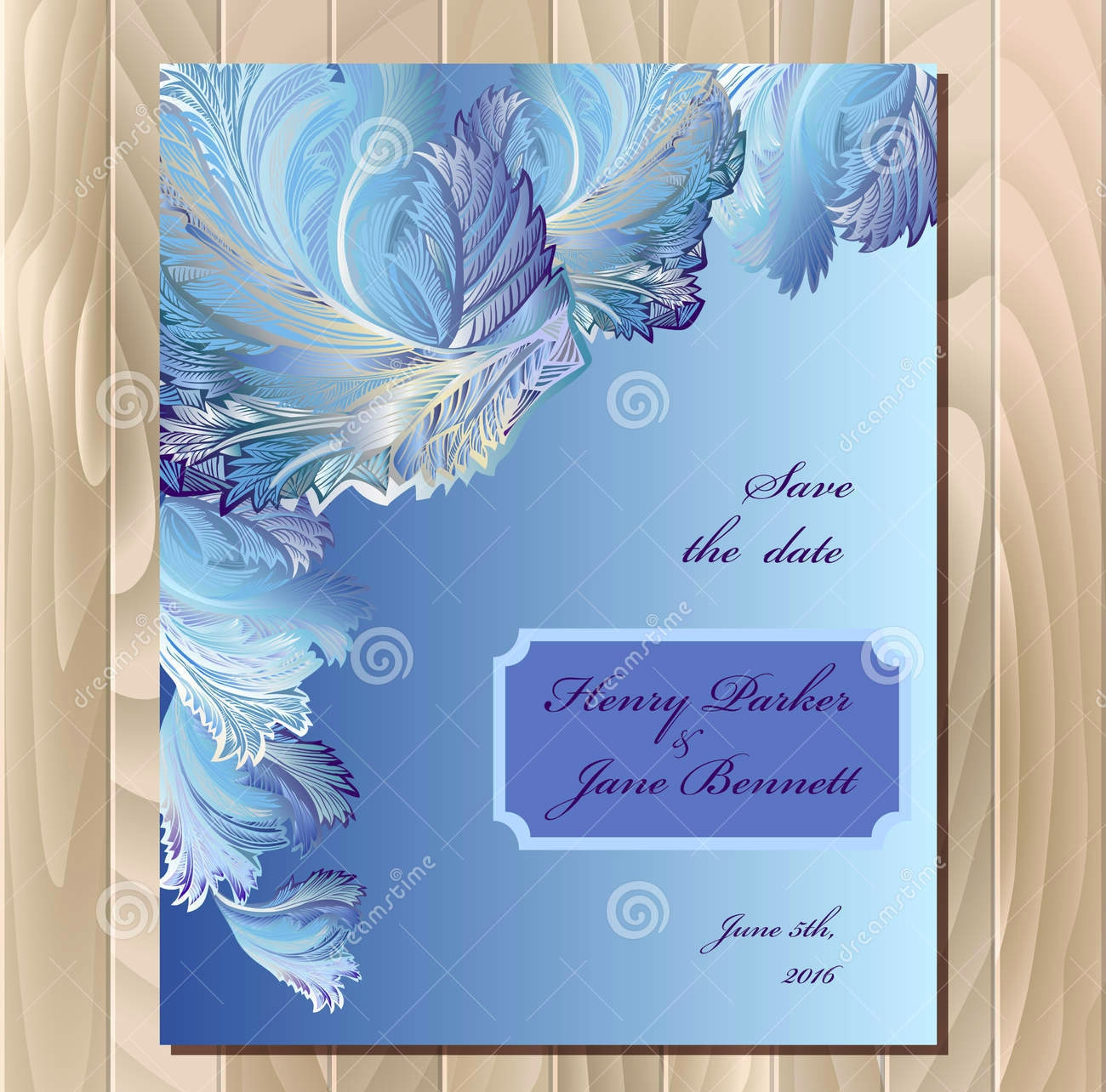 frozen wedding party invitation