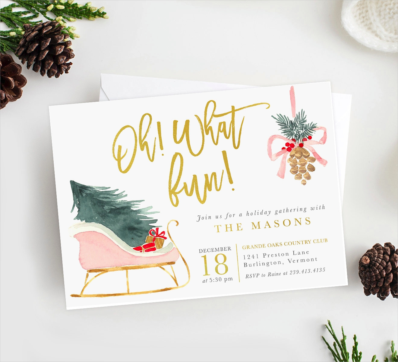 fun holiday party invitation