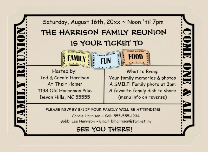 17 family reunion invitations examples psd ai eps vector