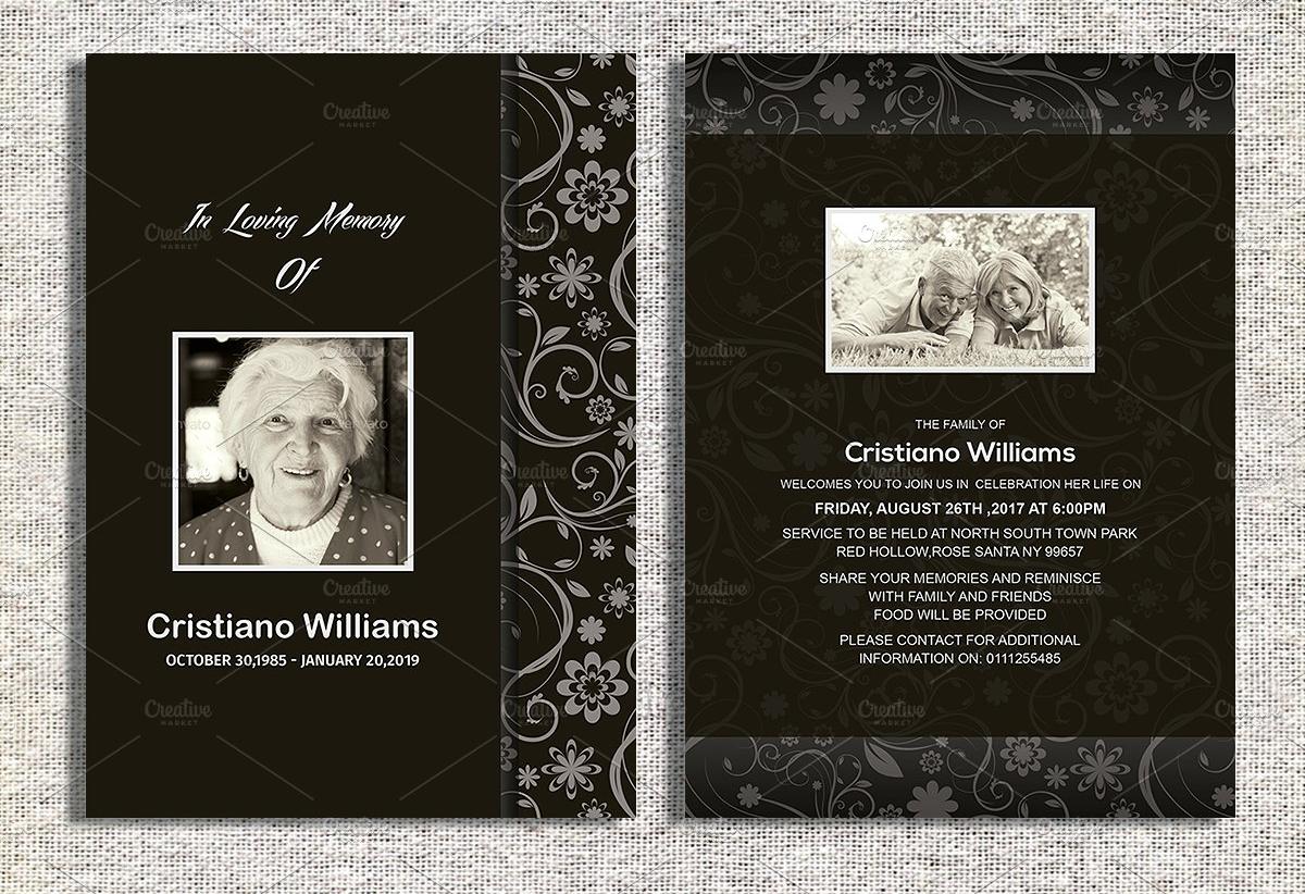 funeral announcement invitation