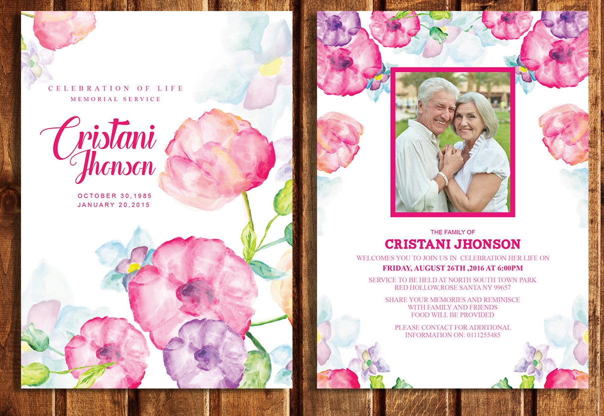 14+ Printable Funeral Invitation Designs & Examples - PSD, AI, EPS ...