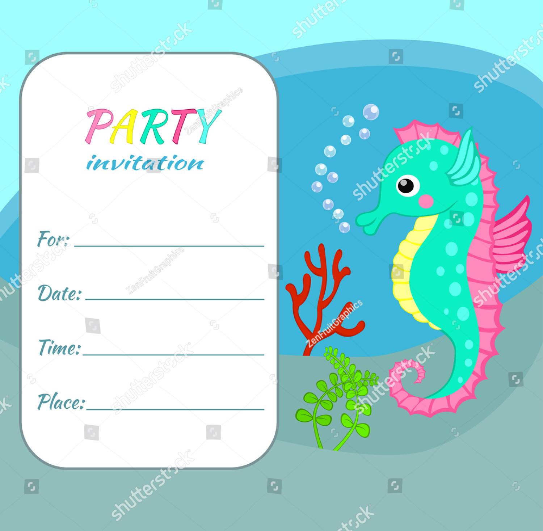 funny children party invitation