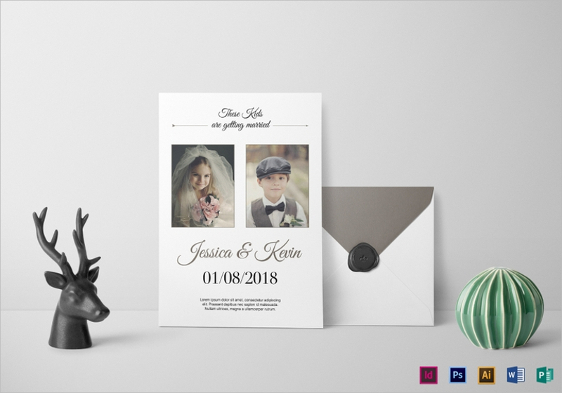 funny photo wedding invitation template