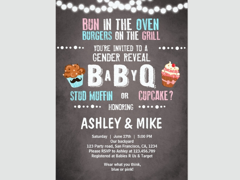 gender reveal bbq couples shower invitation2