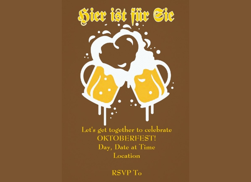 get together oktoberfest party invitation