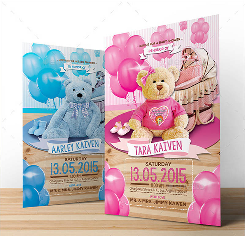 girl baby shower invitation template1