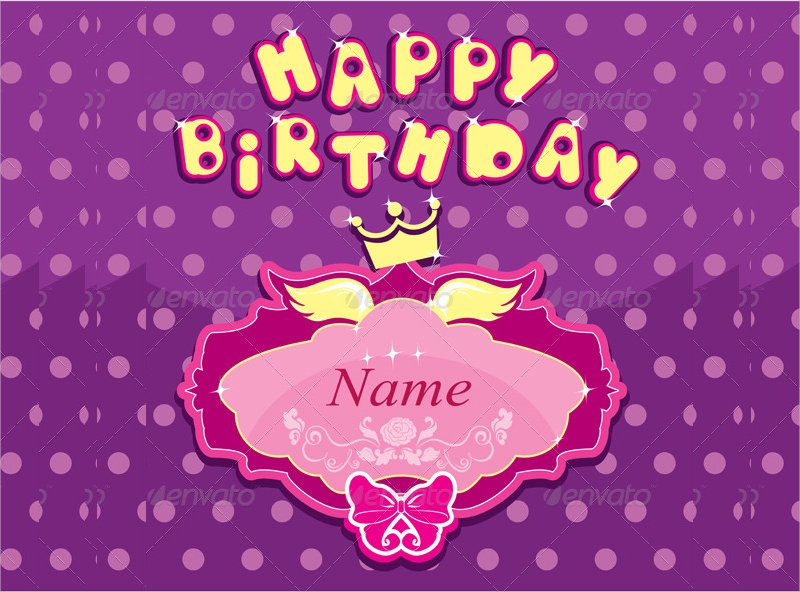 girls birthday party invitation card