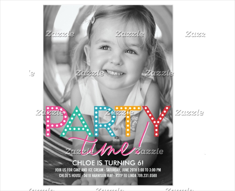 girls birthday party invitation example